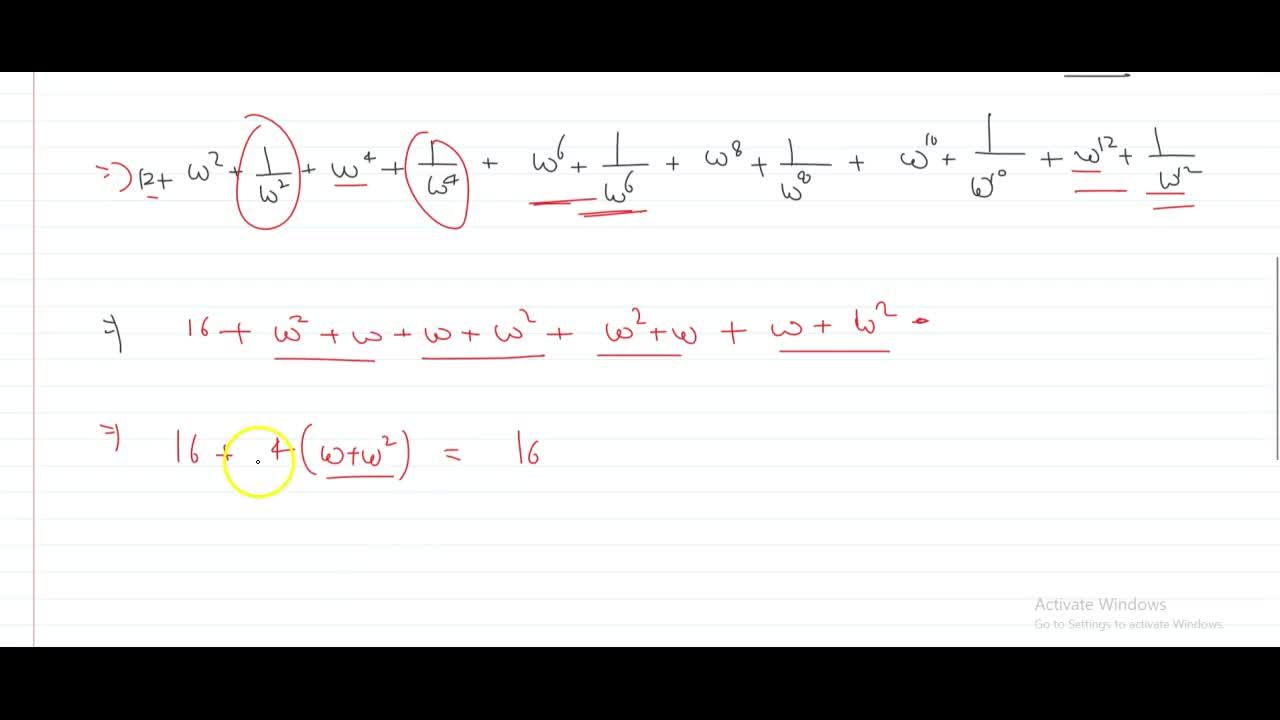 Solution for If z^2+z+1=0, then sum_(r=1)^6(z^r+z^(-r))^2 i