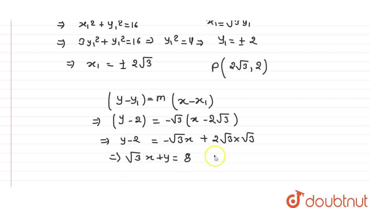 Solution for Find the equation of the line on which the length