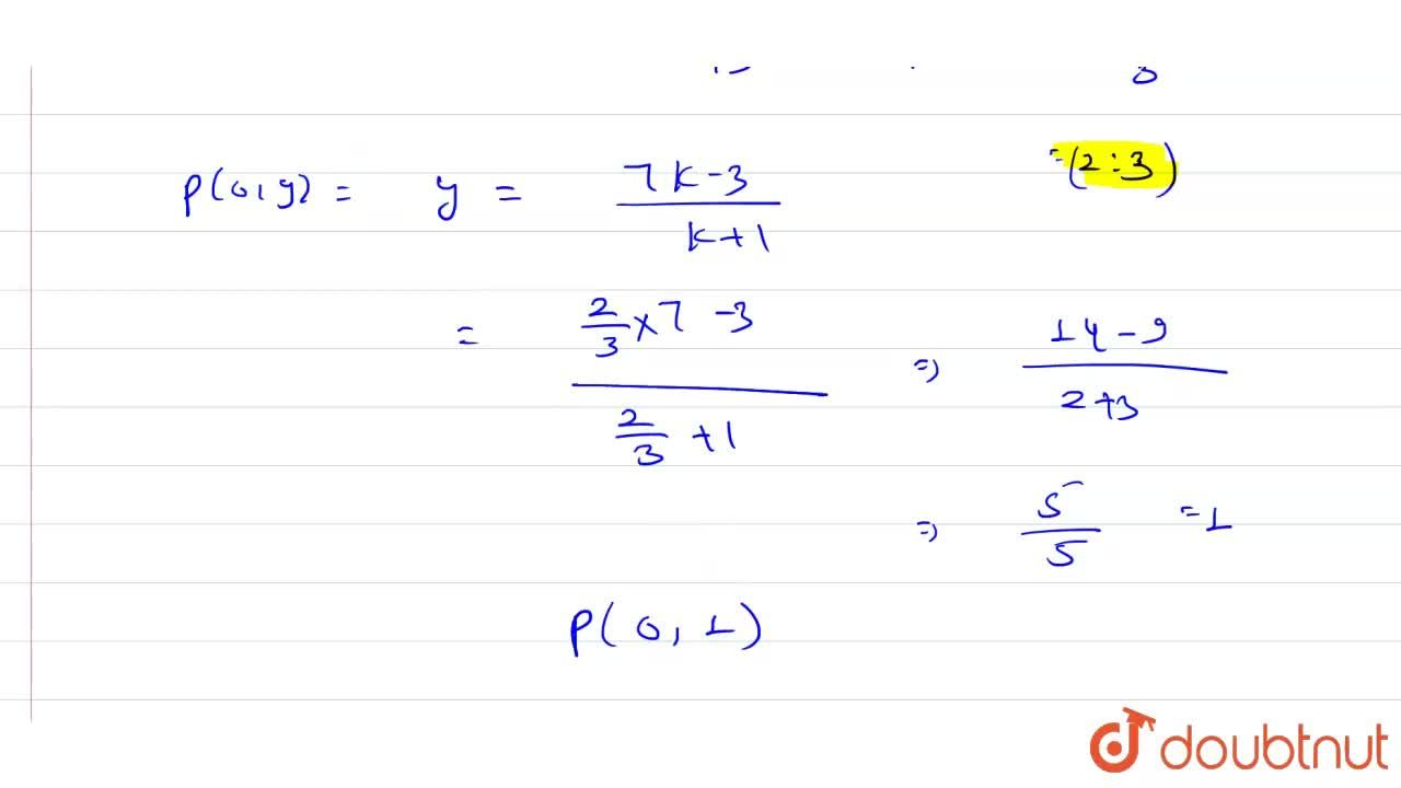 Solution for In what ratio is the line segment joining the poin