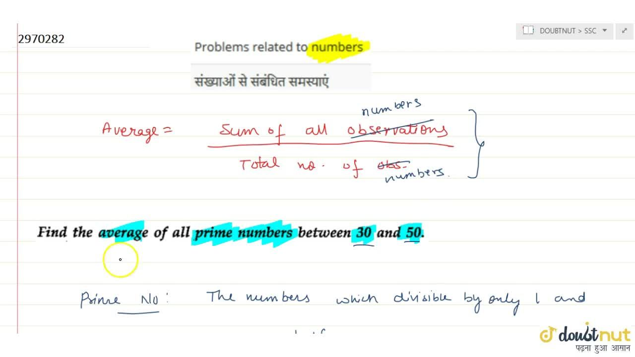 Solution for Problems related to numbers
