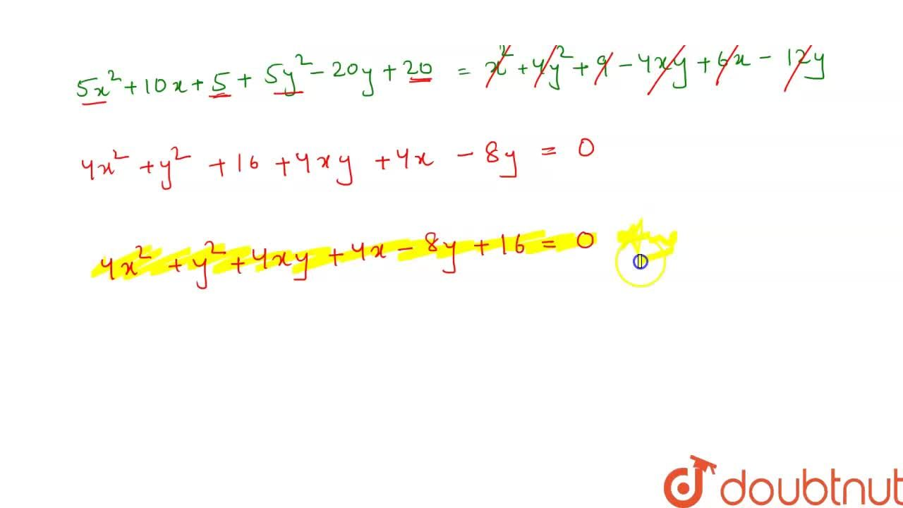Solution for Find the equation of each of the following parabol