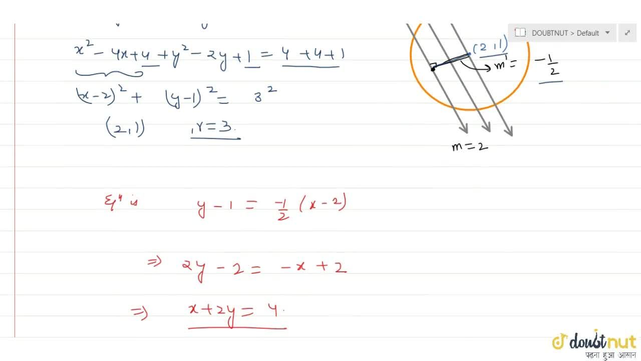 Solution for Locus of the middle points of a system of parallel