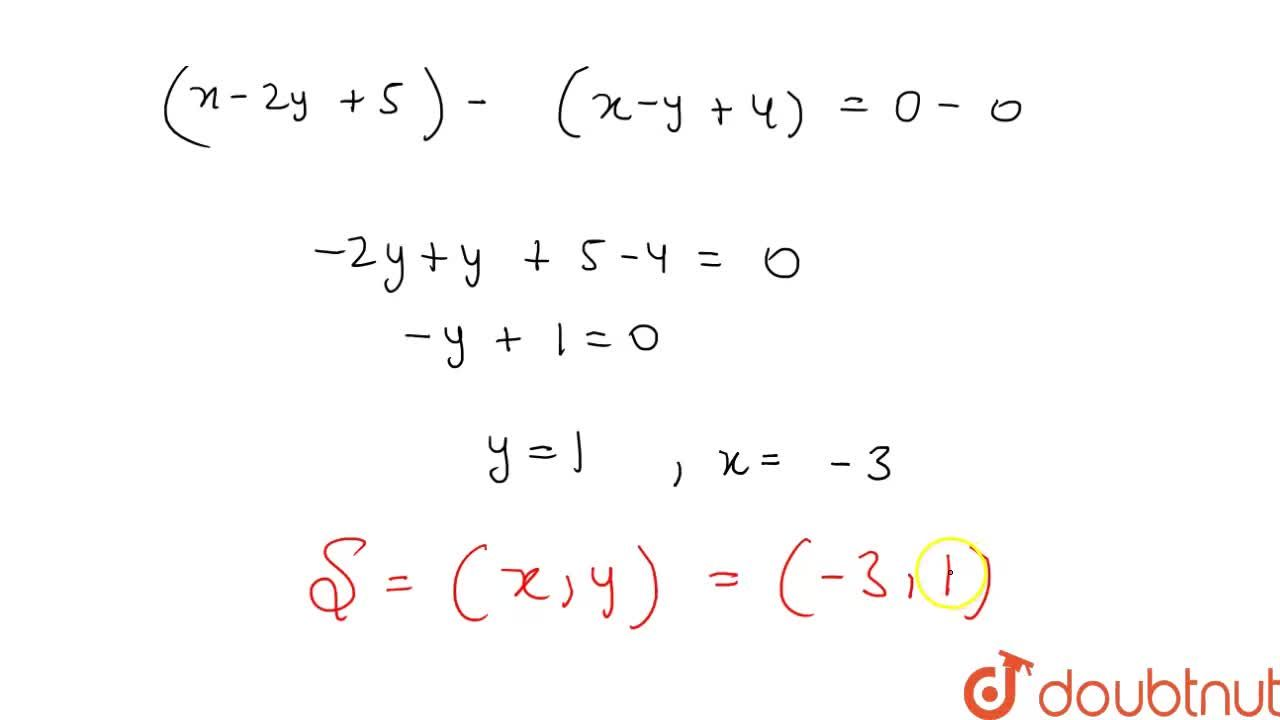 Circum centre of the triangle formed by the lines x+y=0, 2x+y+5=0, x-y=2  is