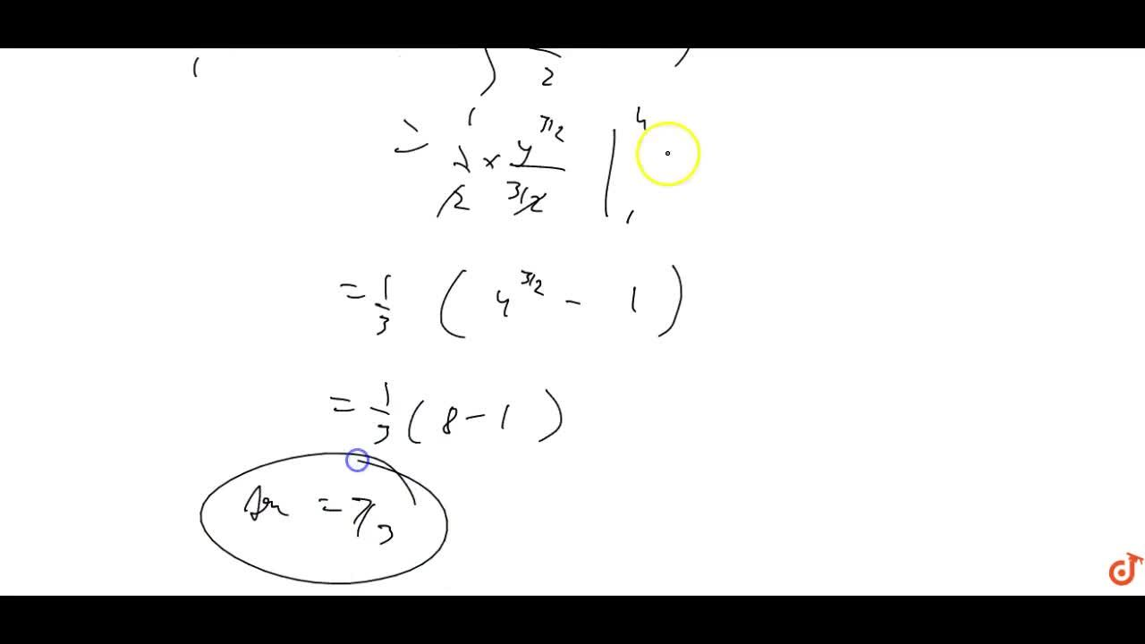 Find the area of the region  lying in the first quadrant and bounded by y=4x^2,x = 0, y = 1 a n d y = 4.