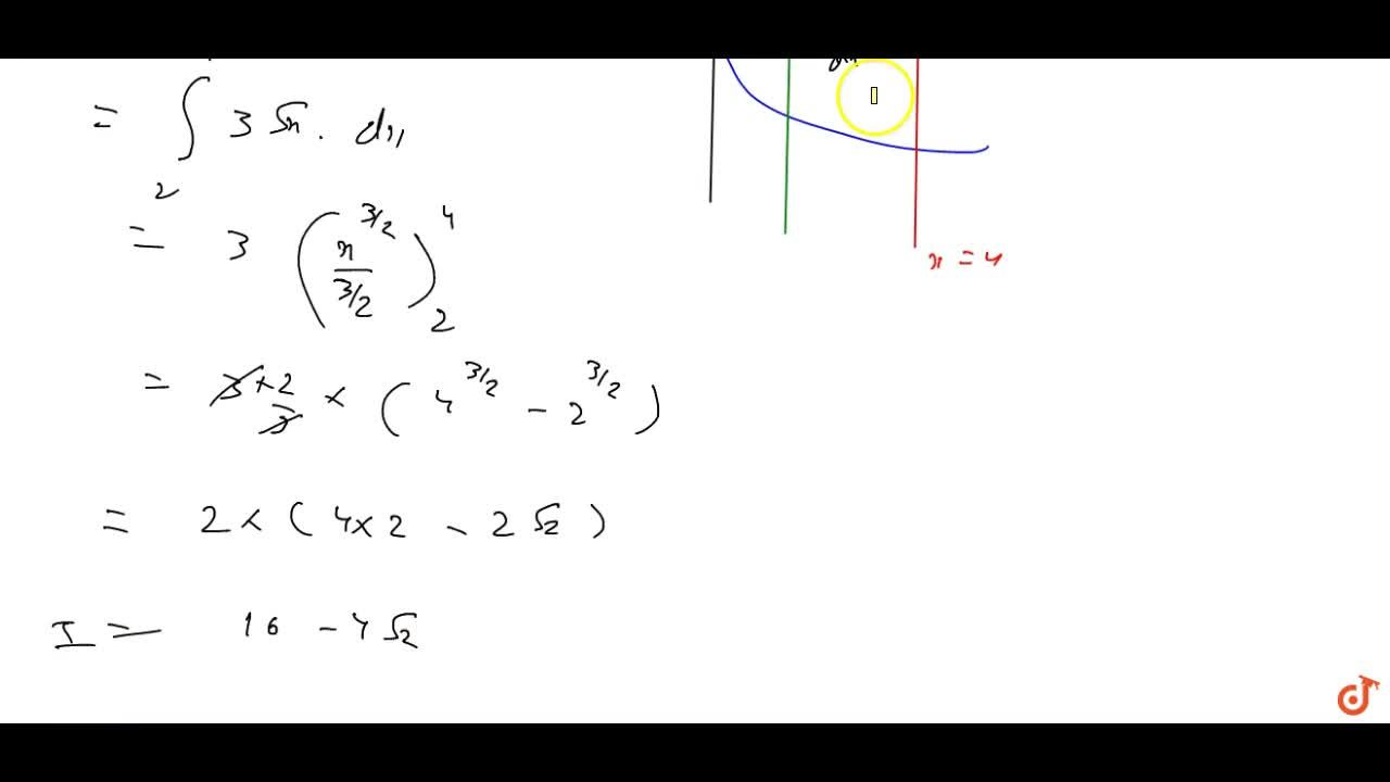 Find the area of the region  bounded by y^2=9x ,x = 2, x = 4and the x-axis in the first quadrant.