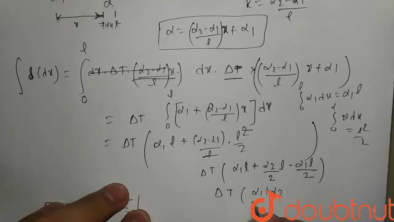 Solution for The coefficient of linear expansion varies linearl