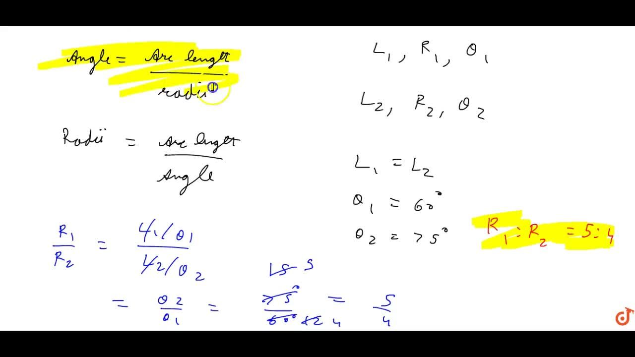 Solution for If in two circles, arcs of the  same length subten