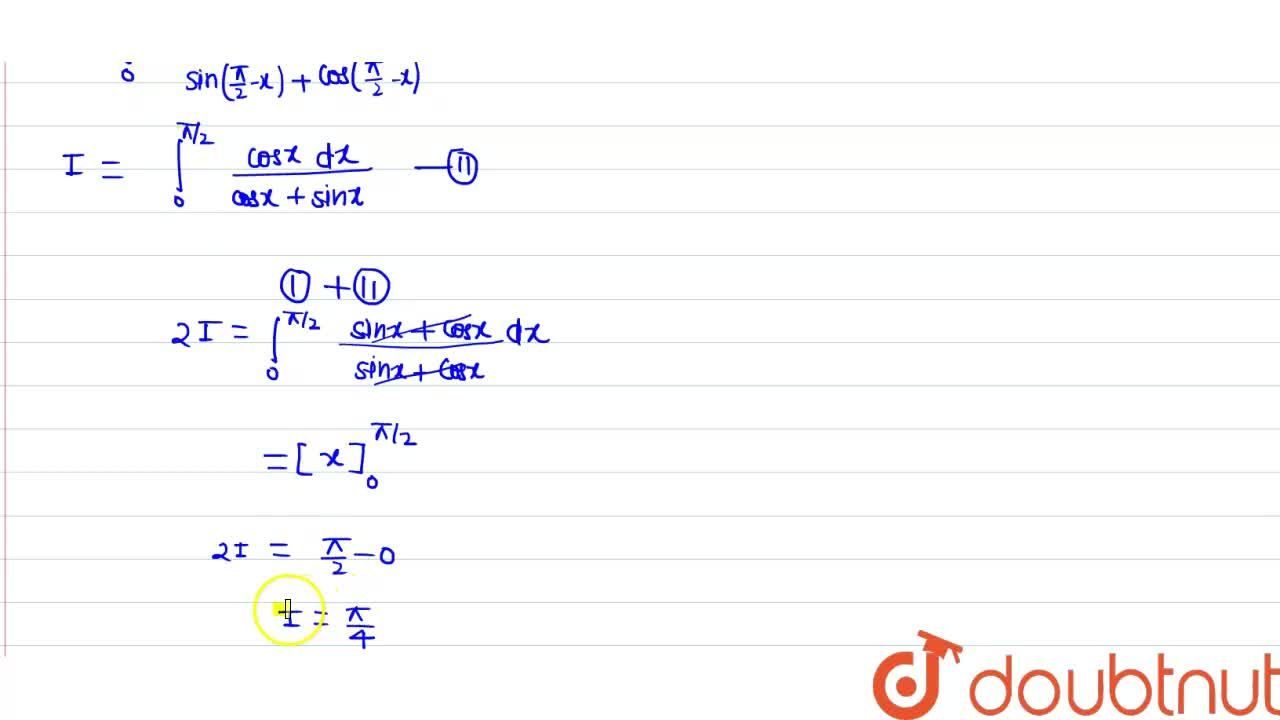 Solution for मान निकाले  : <br> underset(0)overset(pi,,2)int (