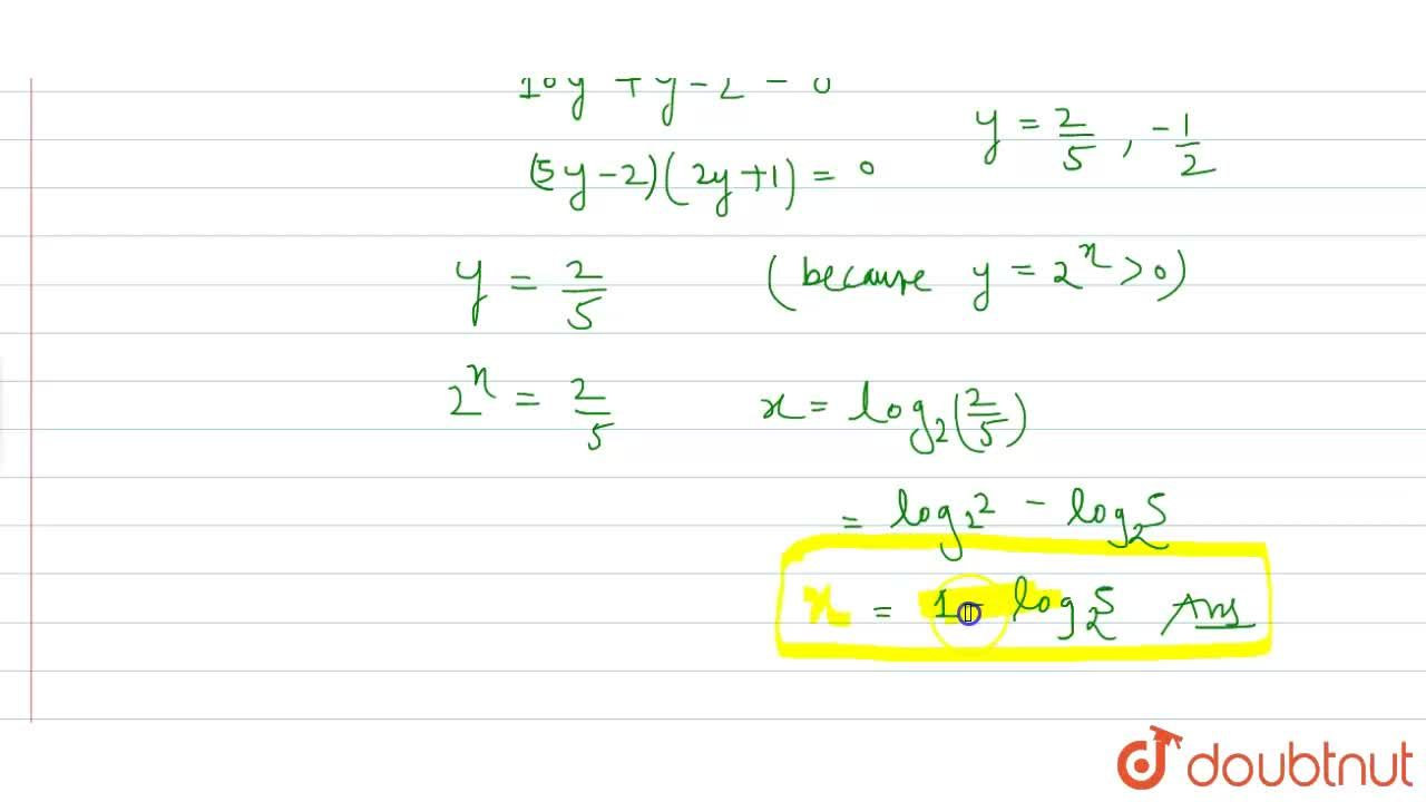 If log_(2)(5.2^(x)+1),log_(4)(2^(1-x)+1) and 1 are in A.P,then x equals