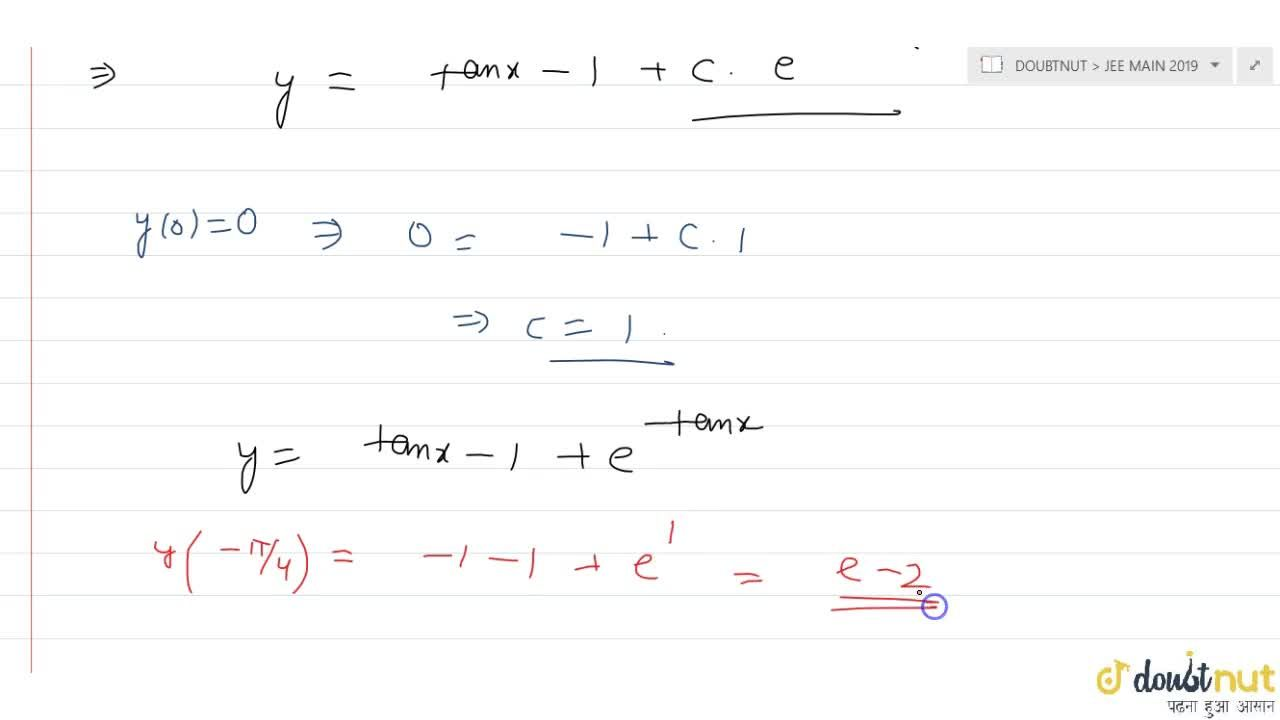 Solution for if y(x) is satisfy the differential equation (dy)