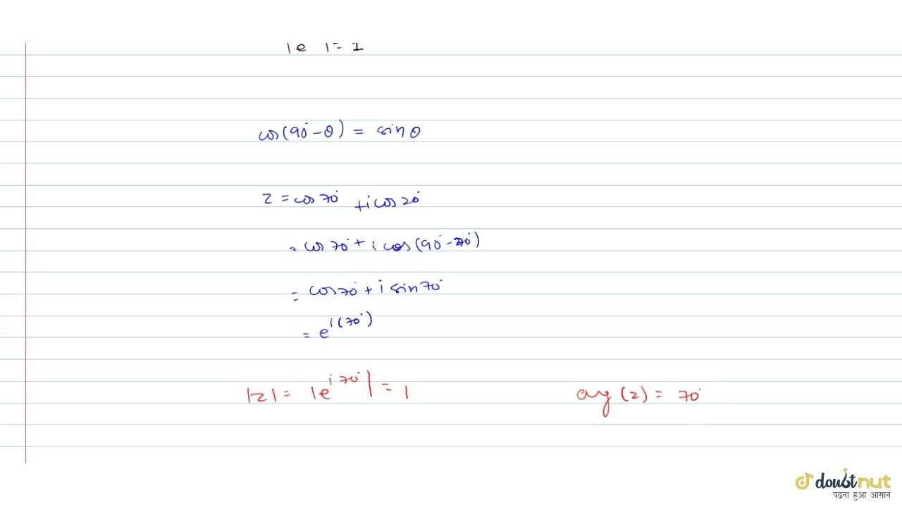 Solution for Find the modulus and principal argument of the fol
