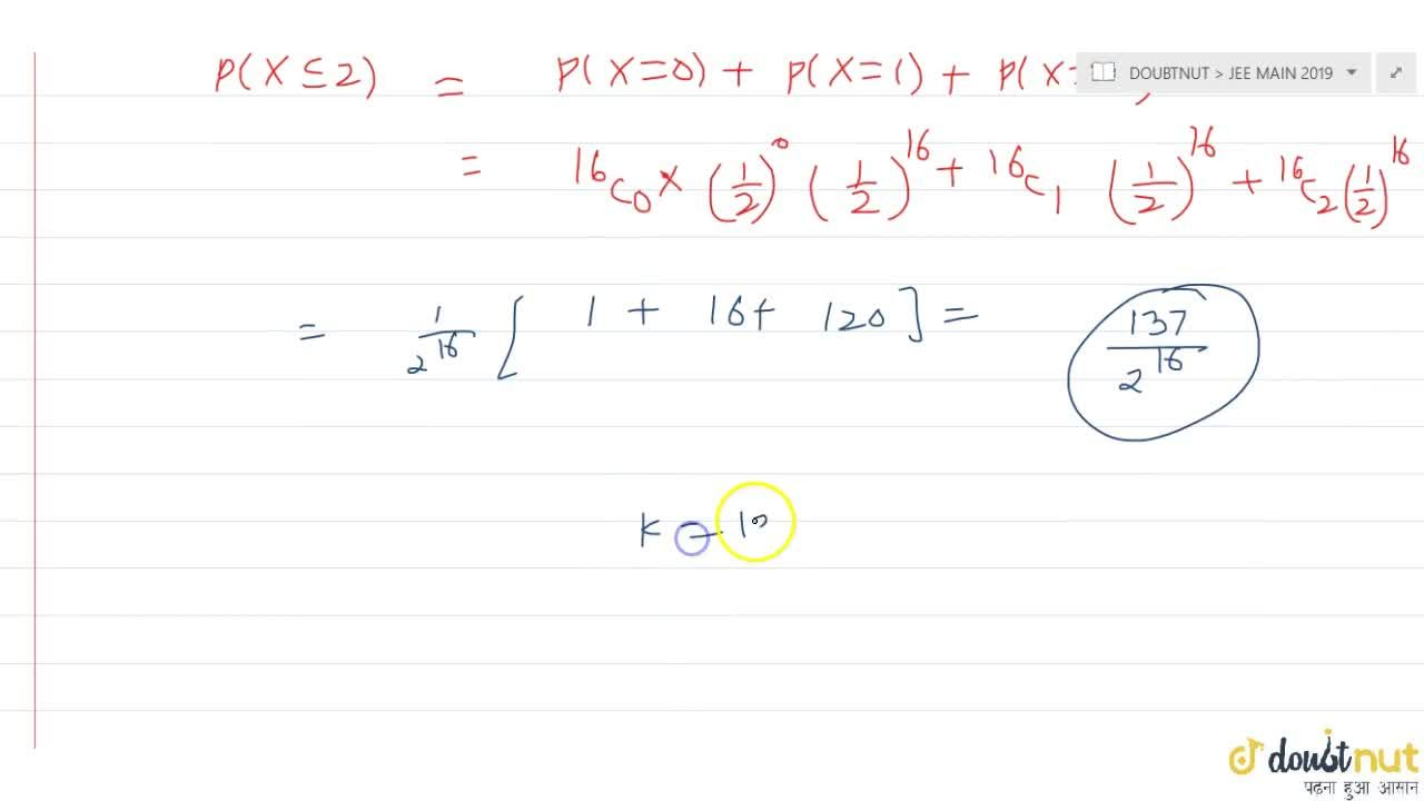 Solution for Let a random variable X have a binomial distribu