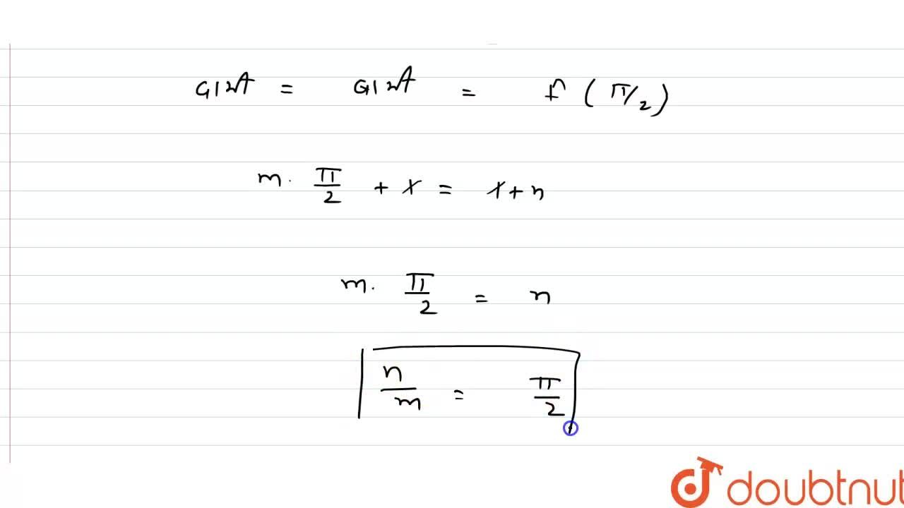 """Solution for यदि f(x)={{:( mx+1"""","""", """"यदि"""" x le (pi),(2)),(sin"""