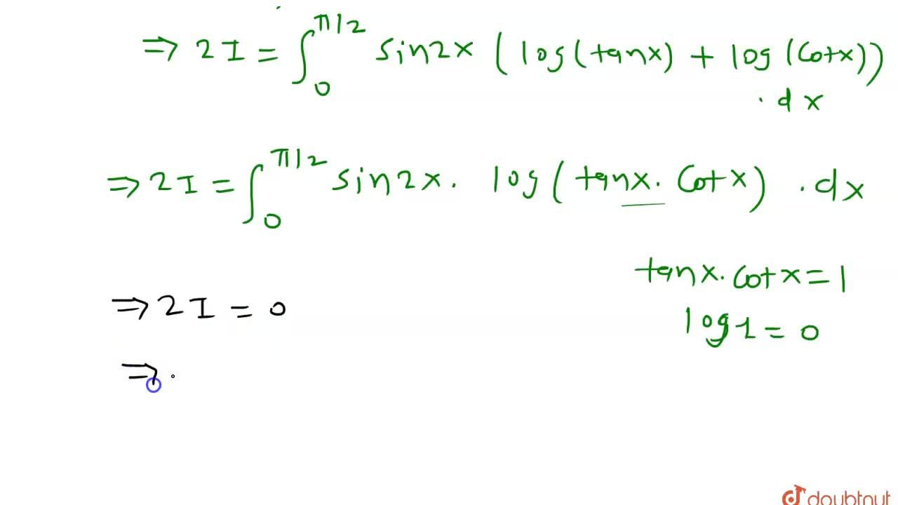 Solution for मान ज्ञात कीजिएः underset(0)overset(pi,,2)int sin