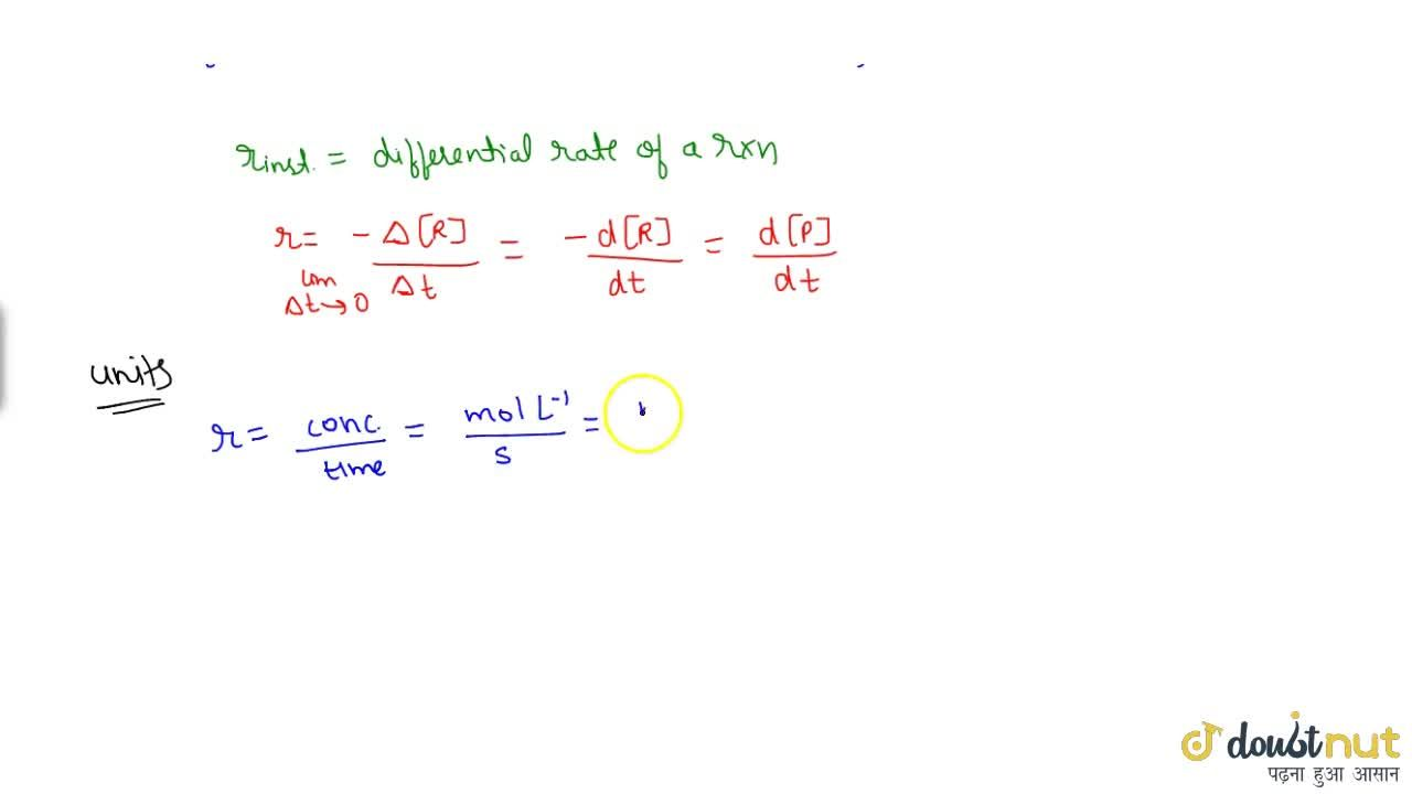 Solution for Introduction And Rate Of A Reaction