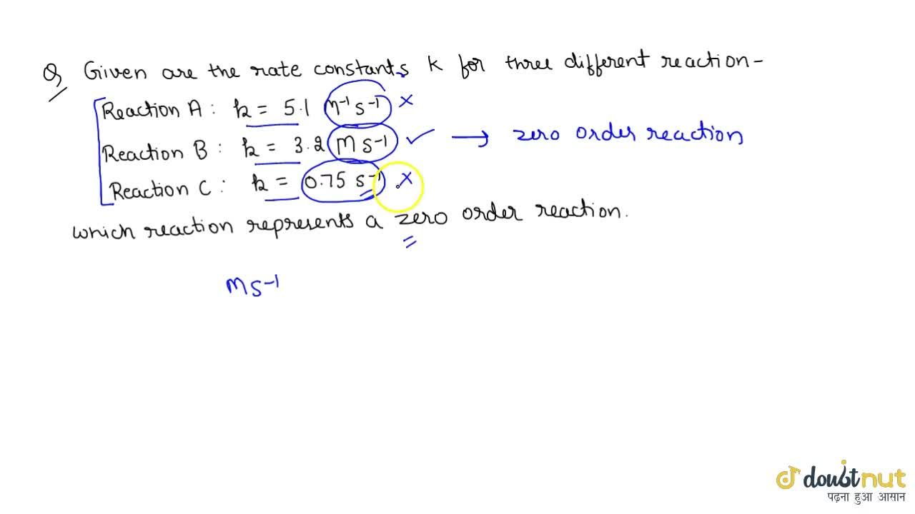 Solution for Examples And Numericals Of Zero Order Reaction