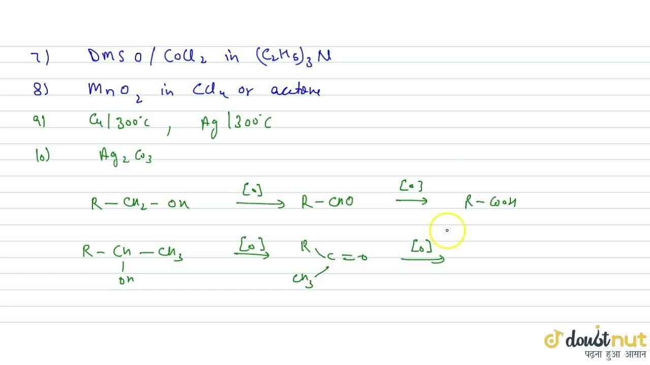 Solution for BY CONTROLLED OXIDATION: