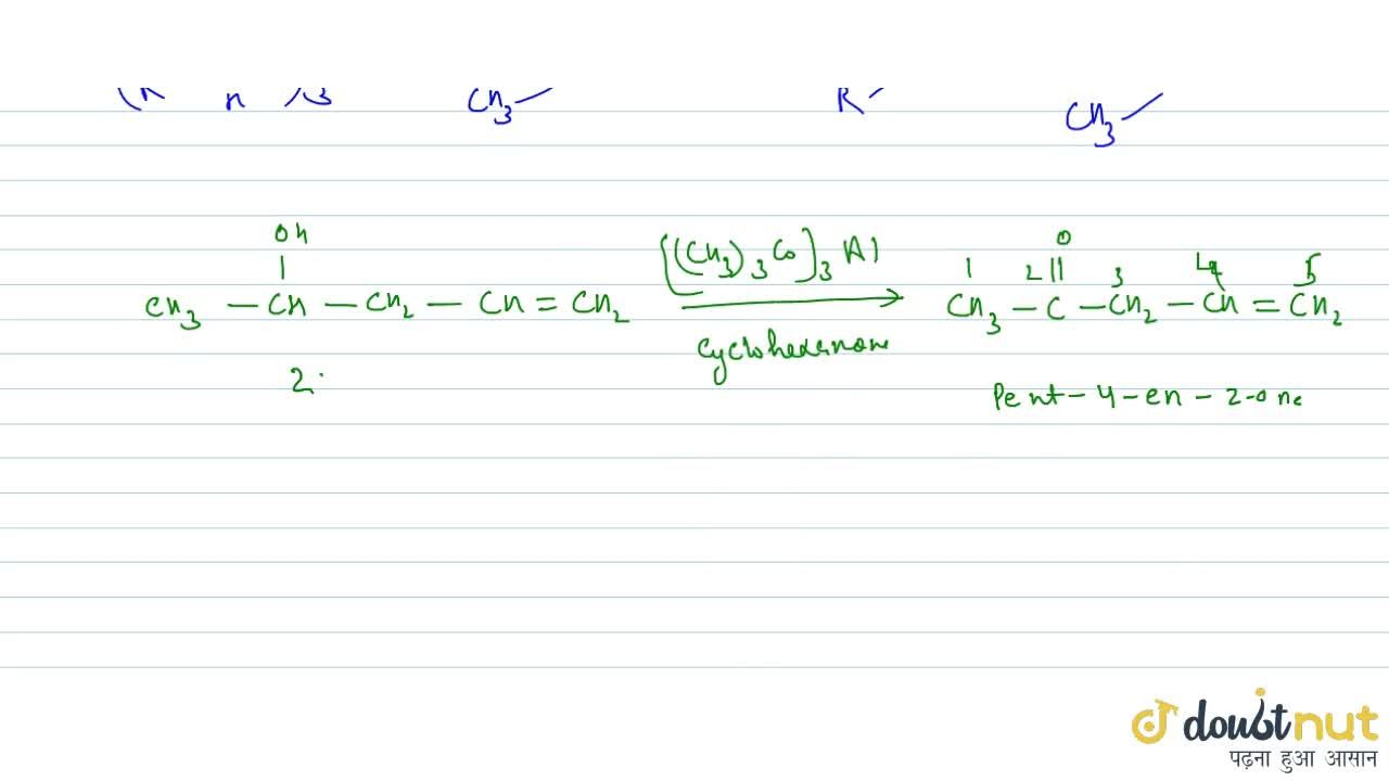 Solution for OPPENAUER OXIDATION: