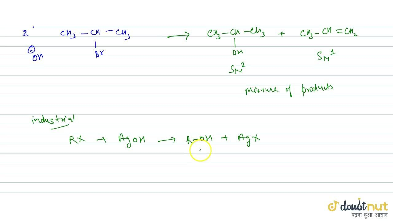Solution for By The Hydrolysis Of Alkyl Halides With Aqueous Al