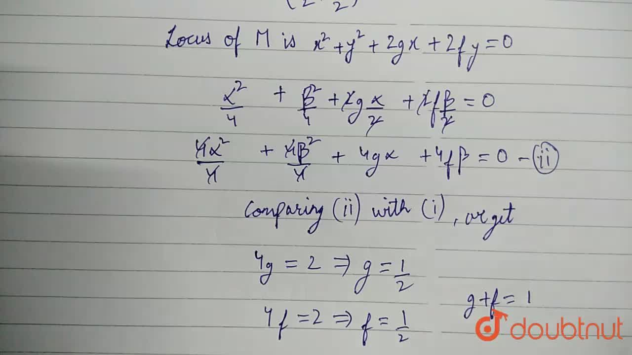 Solution for Let O be the origin and P be a variable point