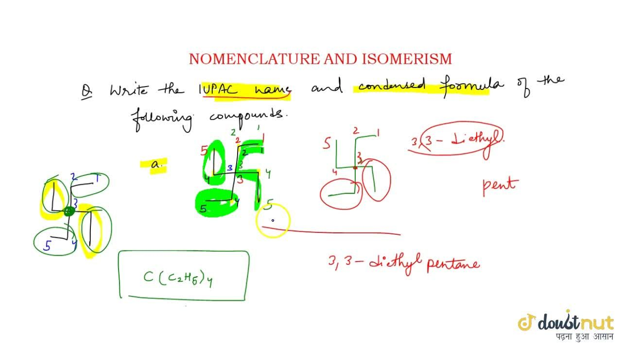 Solution for Nomenclature And Isomerism