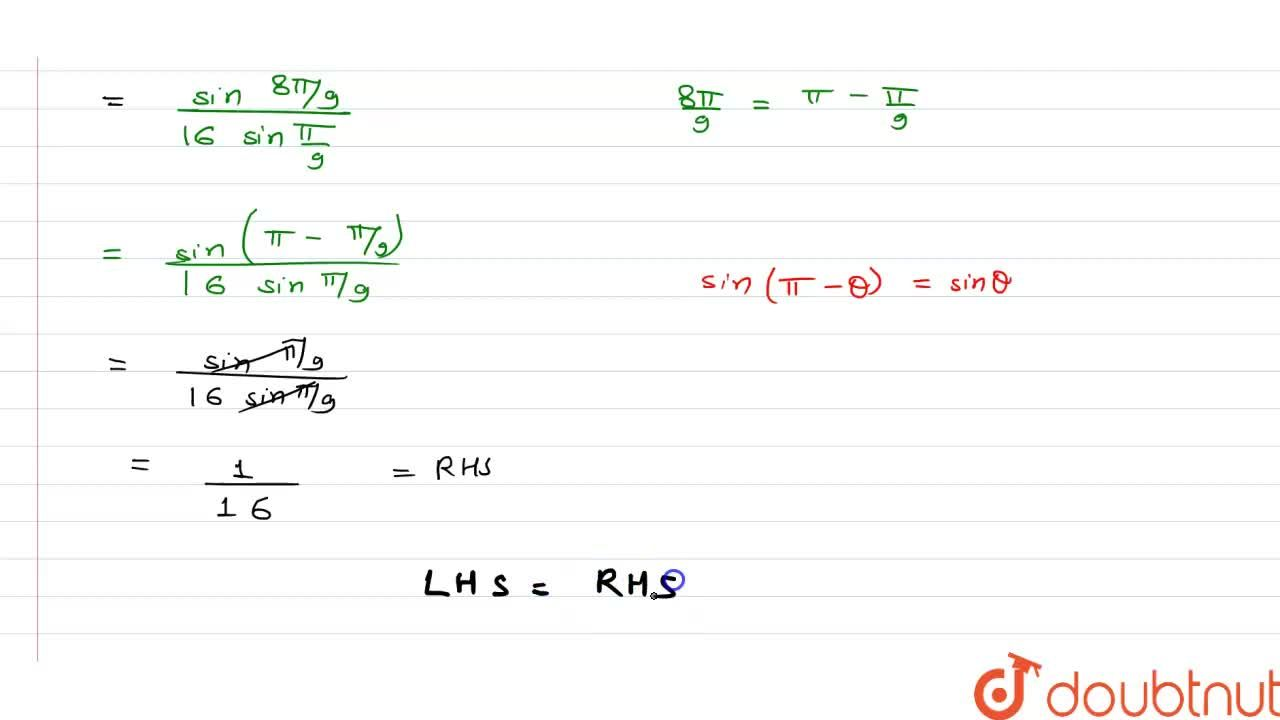 Solution for सिद्ध कीजिये कि <br> cosA. cos 2A. cos 3A. cos 4A