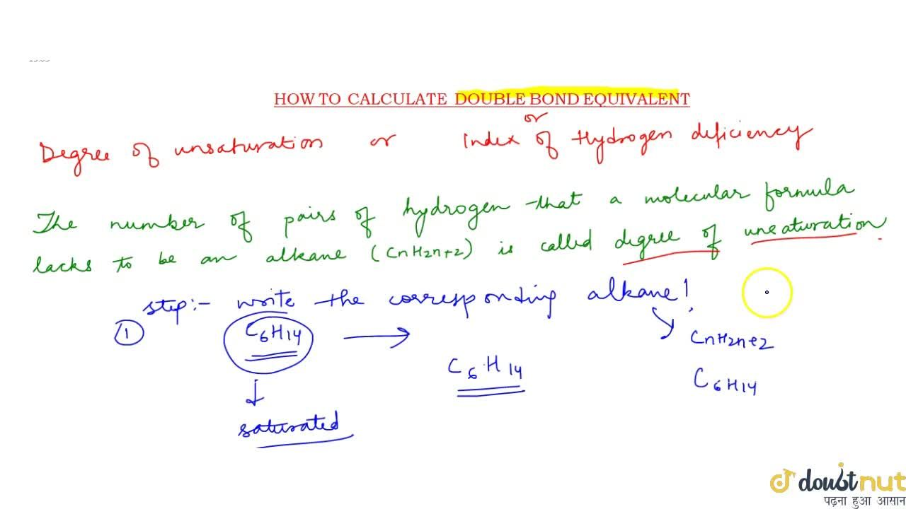 Solution for Double Bond Equivalent