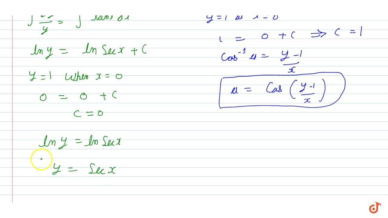 Solution for The differential equations,  find a particular sol