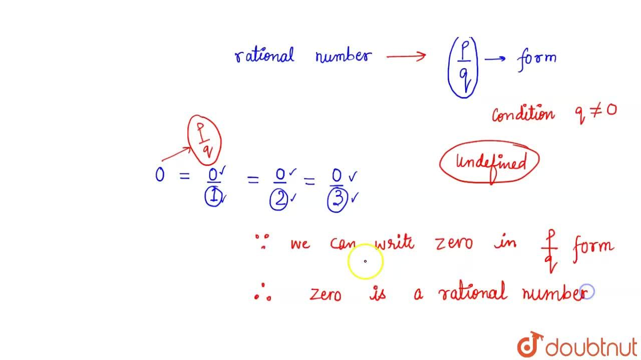 Solution for Is zero a rational number? Can you write it in the