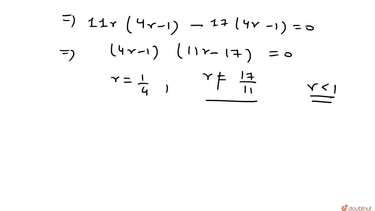 Solution for यदि 3+5r+7r^(2)+…….. oo=44,9  हो ,तो r   का मान
