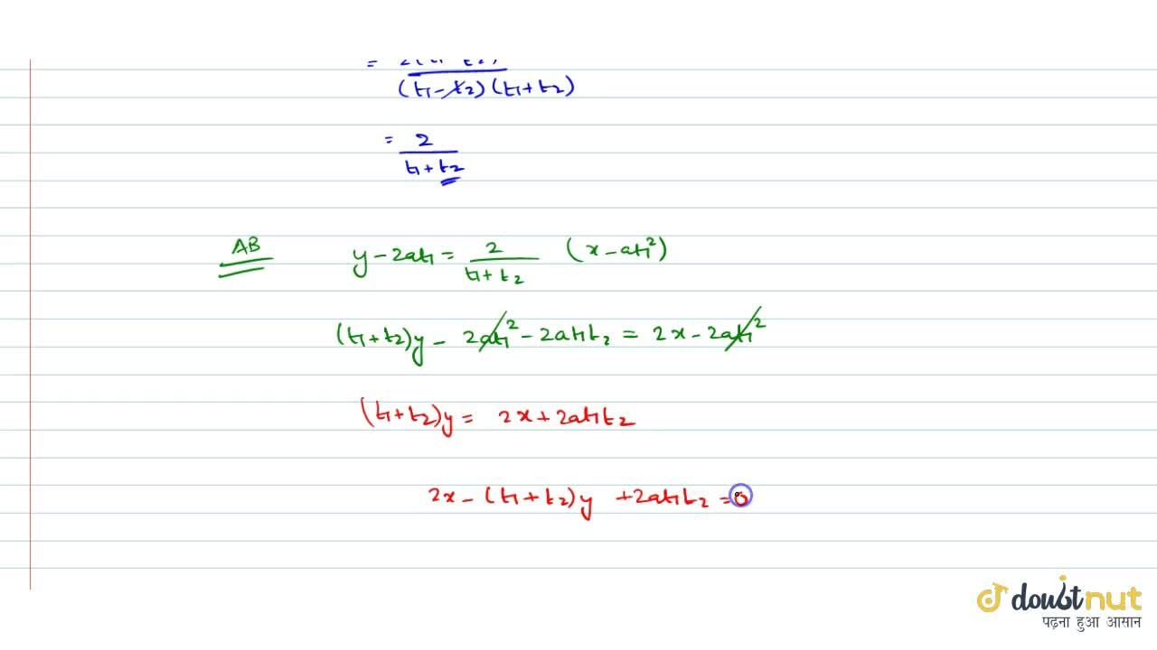 Solution for Find the equation of the straight line whichpasses