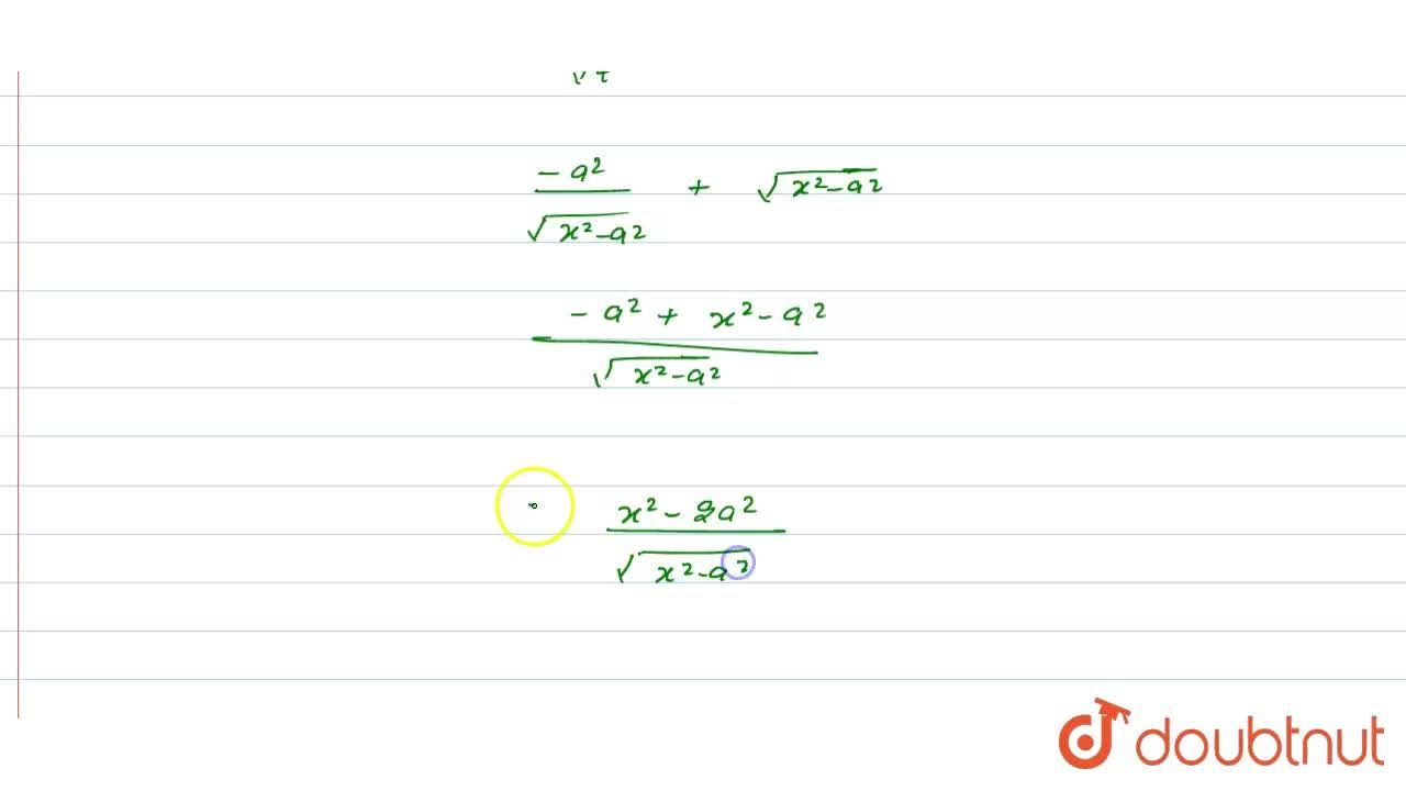 """Solution for समाकलन करें  <br>    int (x^3 dx),(""""""""_(x^2-a^2))^"""