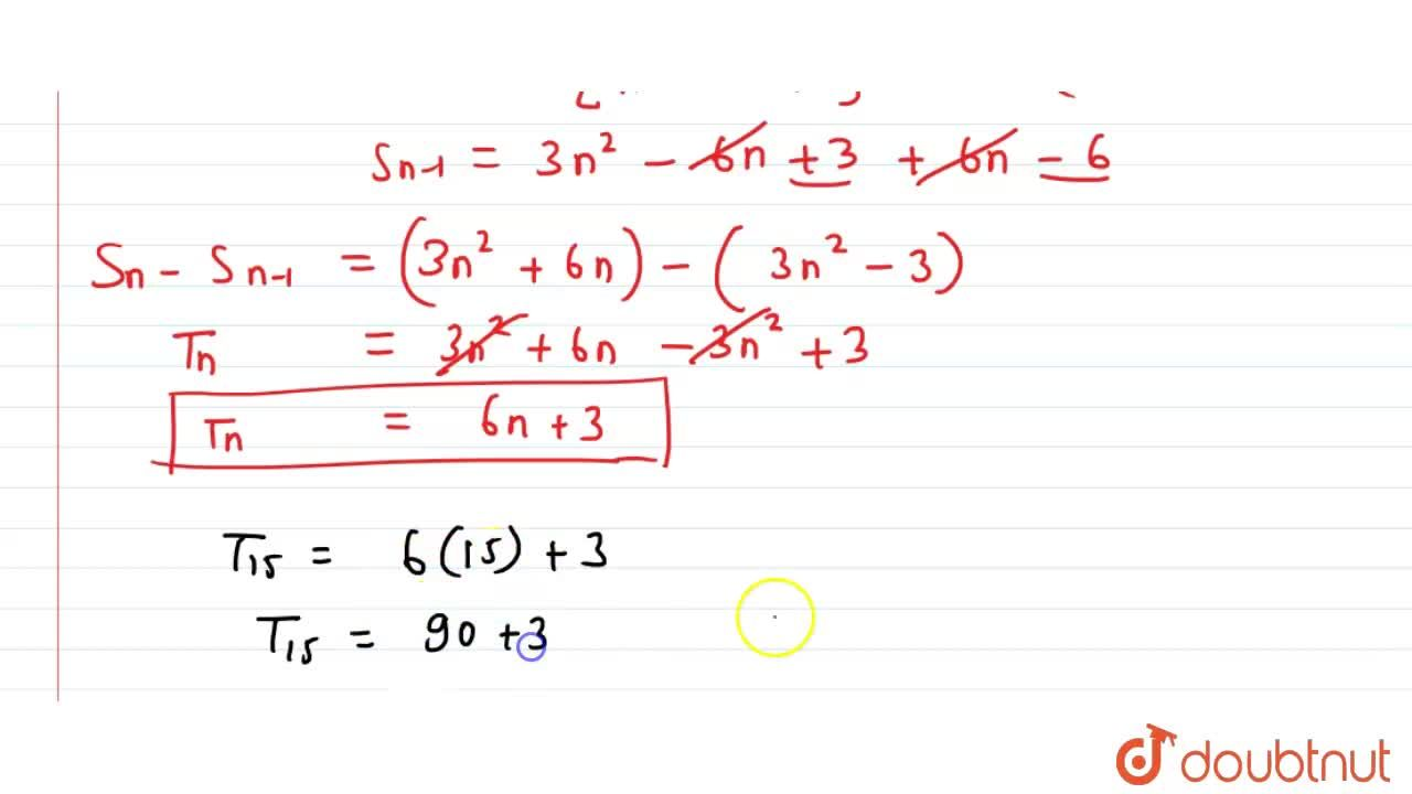 Solution for The sum of first n terms of an AP is (3n^2+6n)