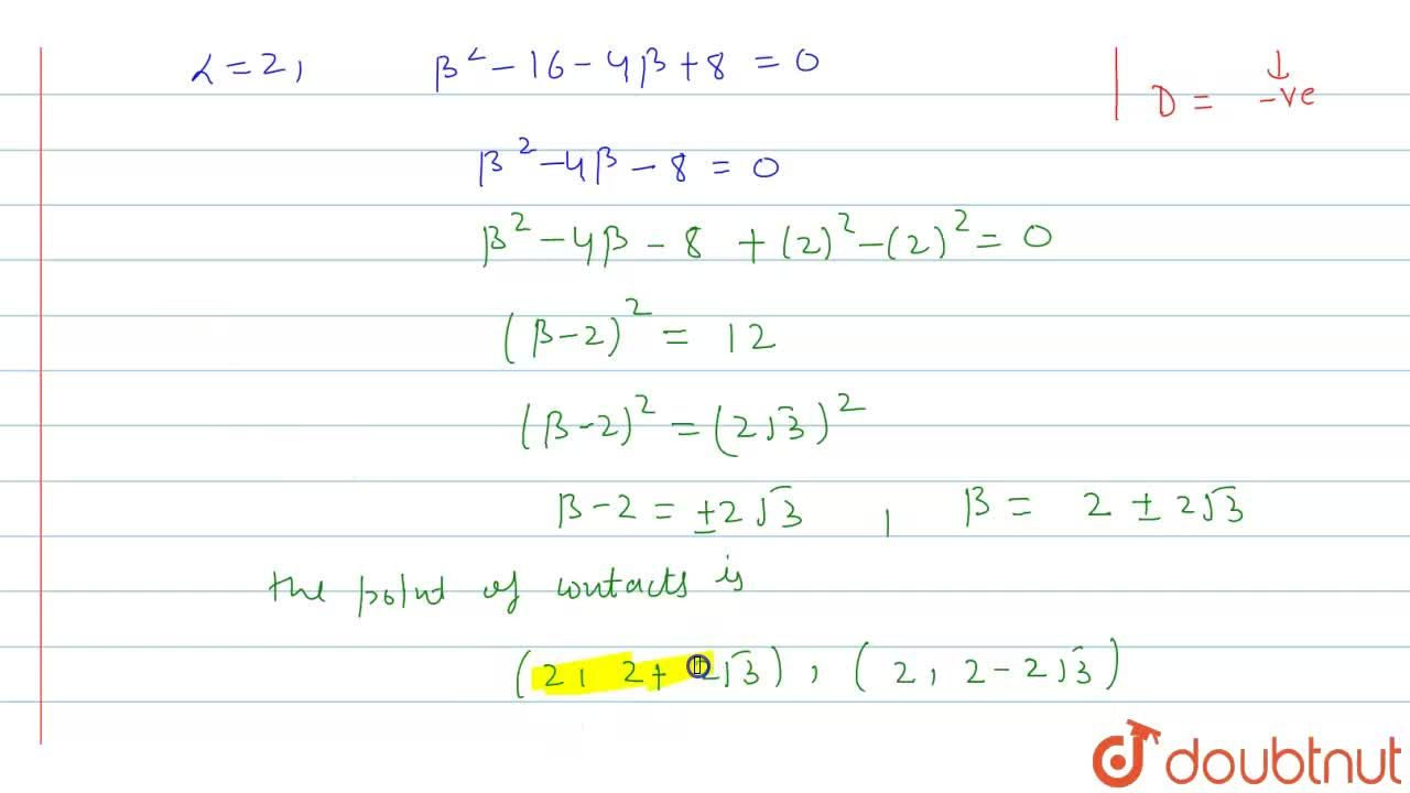 Solution for Find the equations of the tangents drawn to the cu
