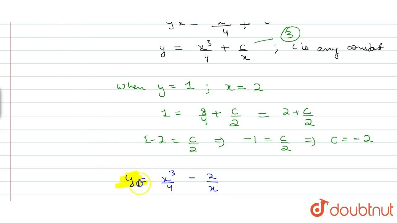 Solution for Solve the following differential equation, given t