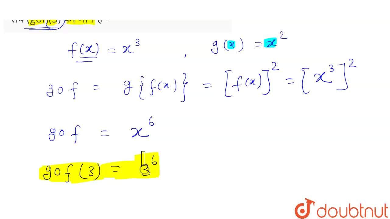 Solution for यदि प्रतिचित्रण f: R to R , f(x) = x^(3)  तथा  प
