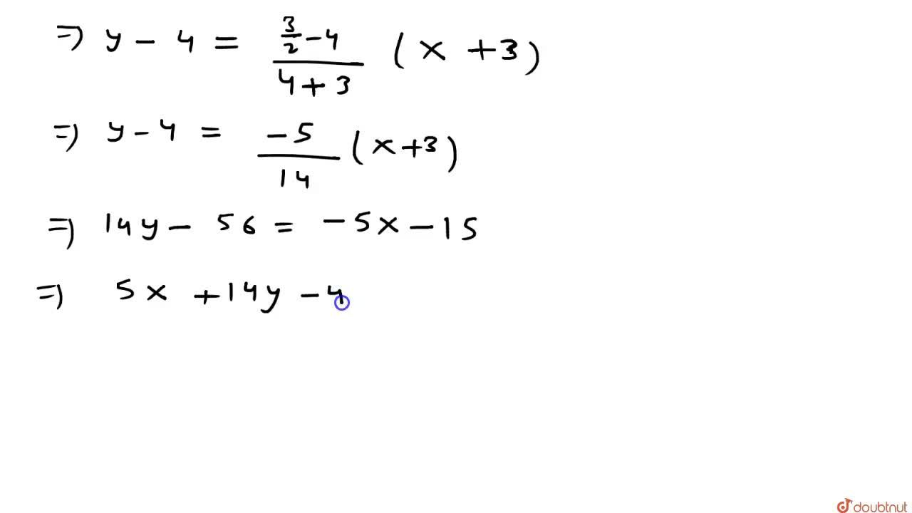 Solution for  Delta ABC  में यदि   A(-3,4),B(6,-2)  तथा  C
