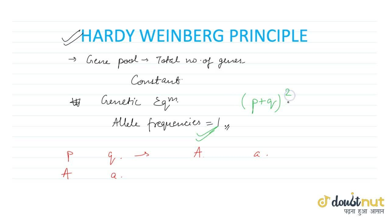 Solution for HARDY-WEINBERG PRINCIPLE