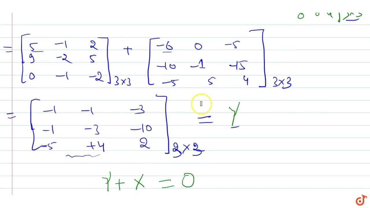 Solution for If A=[2 0 1 2 1 3 1-1 0] , find A^2-5A+4I and