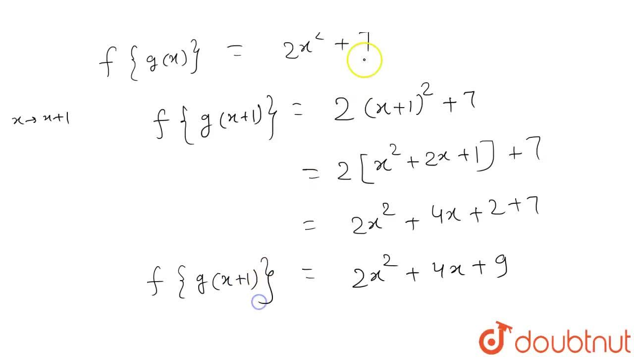 """Solution for यदि f : R to R """" तथा """" g:R to R निम्न प्रकार परि"""