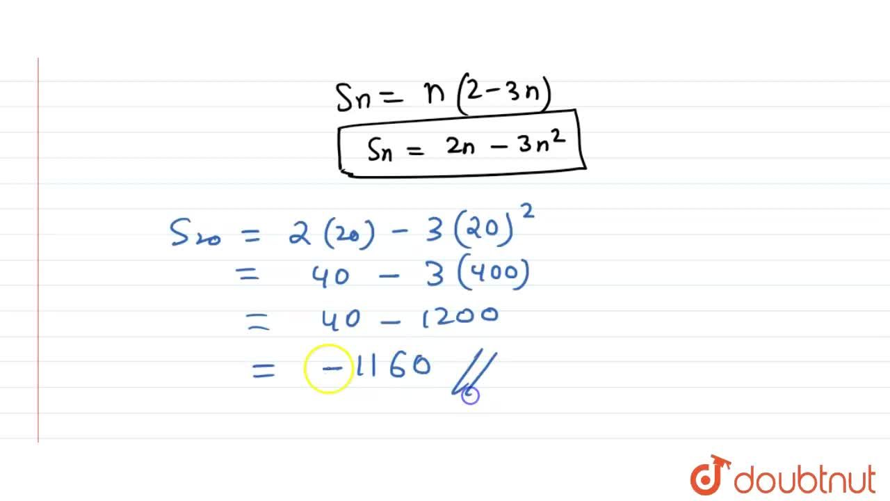 Solution for Find the sum of first n terms of an AP whose n^