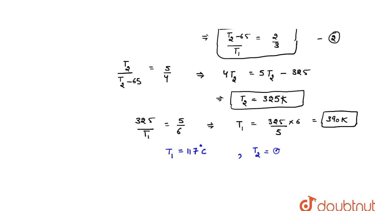 Solution for The efficiency of a Carnot cycle is 1,,6. If on