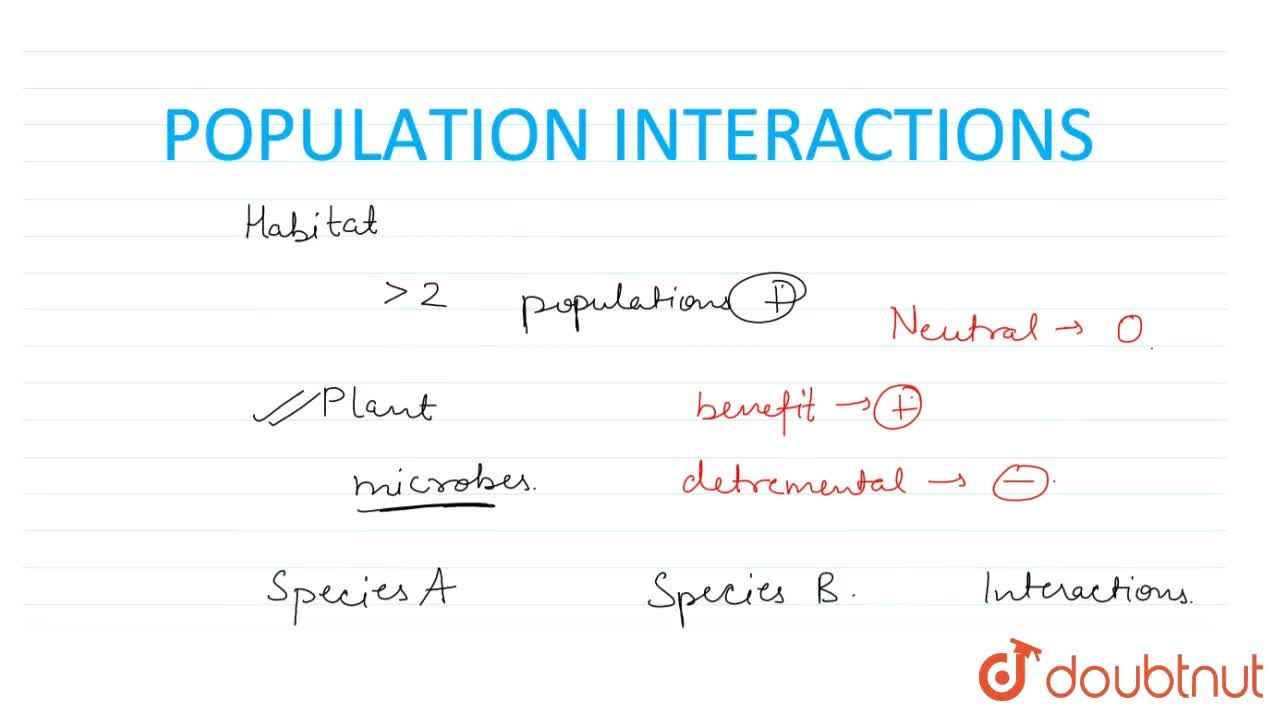 Solution for Population Interactions