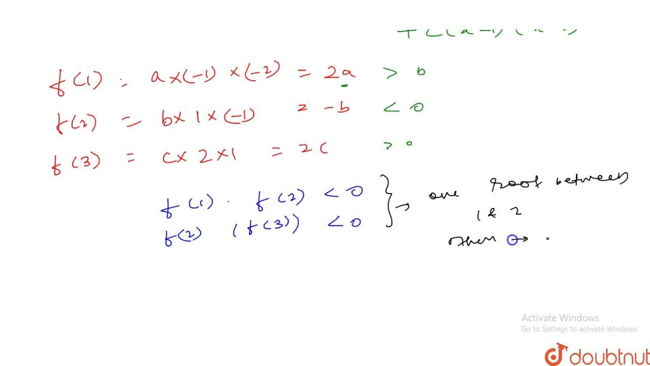 Solution for Equation a,(x-1)+b,(x-2)+c,(x-3)=0(a,b,cgt0) has
