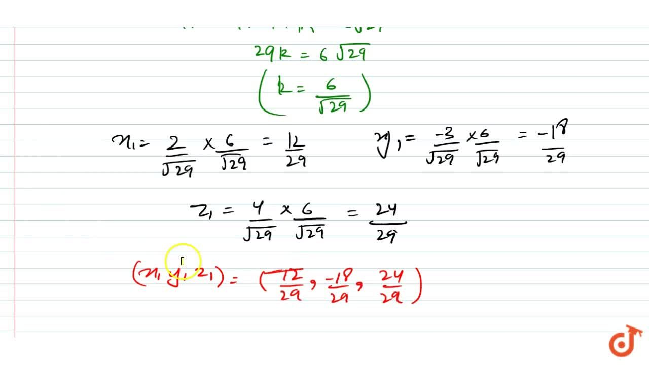 Solution for  Find the coordinates of  the foot of the perpendi