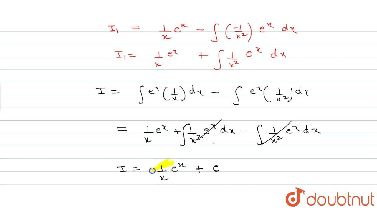 Solution for Evaluate: inte^x(1,x-1,x^2)dx