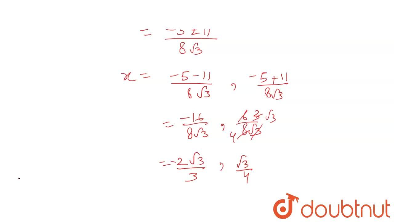 Solution for Solve the following quadratic equation : <br> 4sq