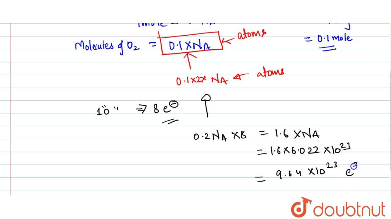 Solution for Calculate the total number of electrons present in