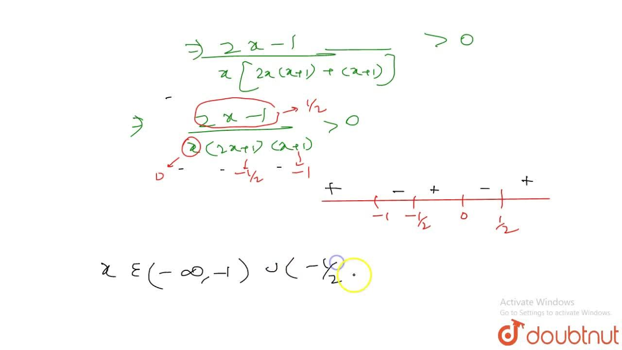 Solution for Find all the real values of x such that (2x-1),(2