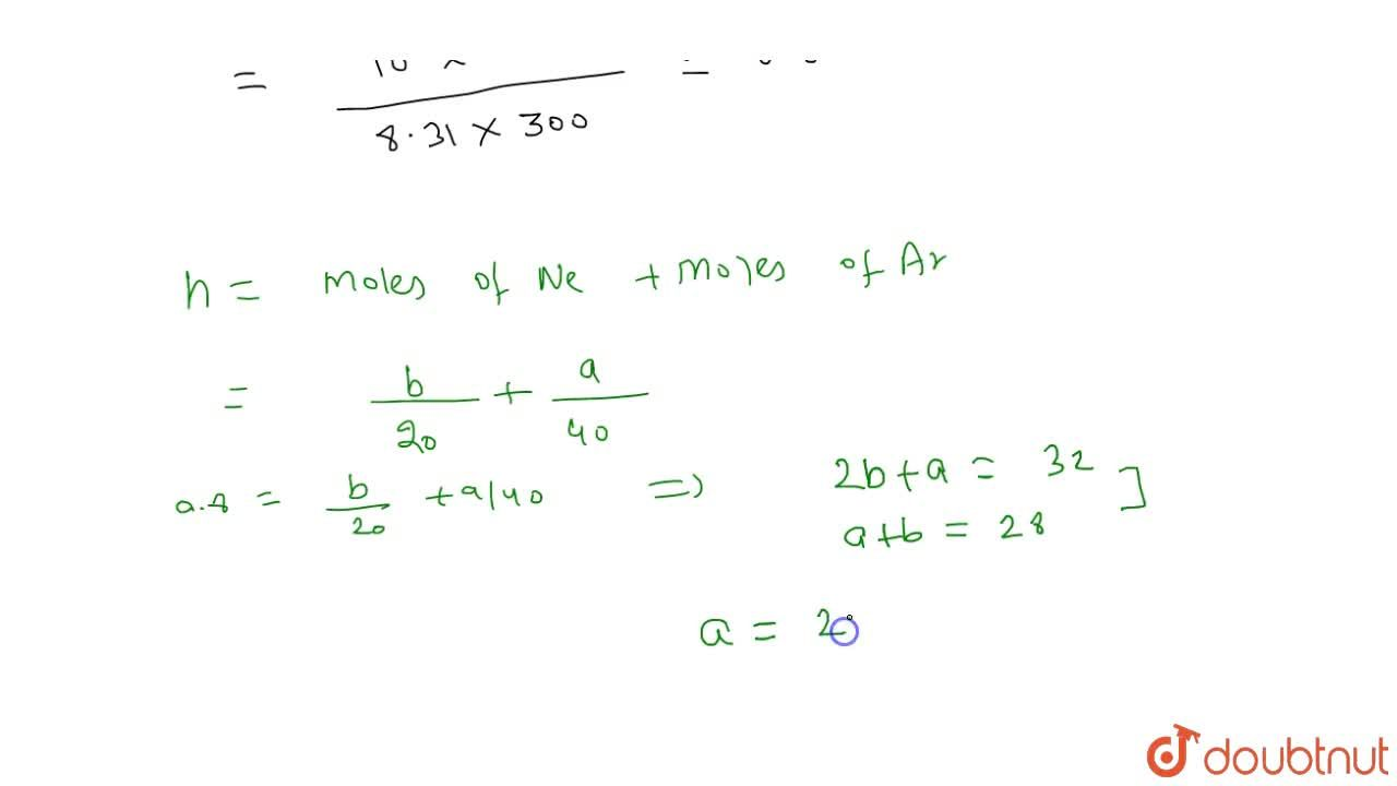 Solution for A closed container of volume 0.02m^(3) contains